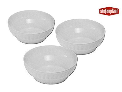 Stefanplast Gerippter Salatschüssel, weiß, 30x 16x 30cm (Queens Kochen Geschirr)