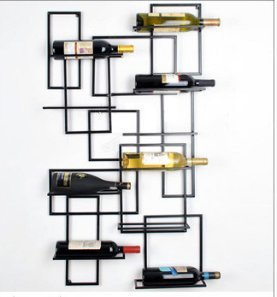 DZXYA Vino rosso di ferro Rack Art Glass rack include appendere in vetro