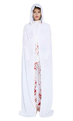 Fanient Unisex Braut Hochzeit in voller Länge Kapuzenmantel mittelalterlichen Halloween Cape Vampire Cosplay Kostüm (Mittelalterliche Braut Kostüm)