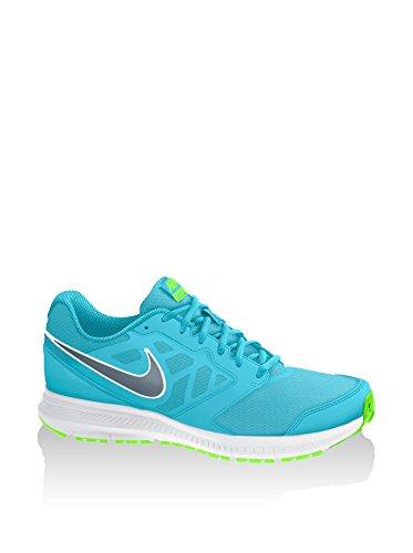 Nike  Wmns Nike Downshifter 6, Damen Sneaker CLRWTR/BL GRPHT-FLSH LM-WHITE