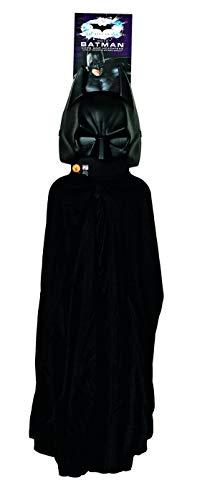 costumebakery - Jungen Kinder Batman Kostüm Set mit Umhang und Maske, perfekt für Karneval, Fasching und Fastnacht, Schwarz