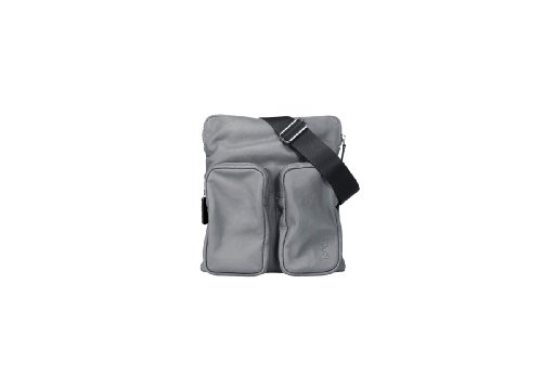 NAVA, N-leather saddle, Organizer borsa, Unisex - adulto Grigio