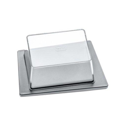 koziol beurrier Kant, thermoplastique, gris et transparent, 12 x 16,5 x 6,9 cm