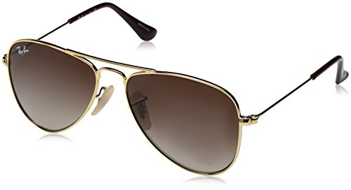 Ray-Ban Rayban Unisex-Kinder Sonnenbrille 9506s, Gold/Browngradient, 50