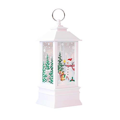 LED Weihnachten Flamme Licht, 12shage Weihnachten kleine Öllampe Candle Light Laterne Dekor (C)