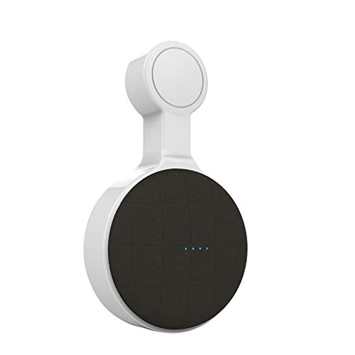 Wandhalterung für Google Home Mini, Tragbar Plug-in Steckdose Halterung Ständer Wall Mount Outlet Hanger mit Eingebauter Kabelverwaltung in Küche Badezimmer Schlafzimmer (Weiß)
