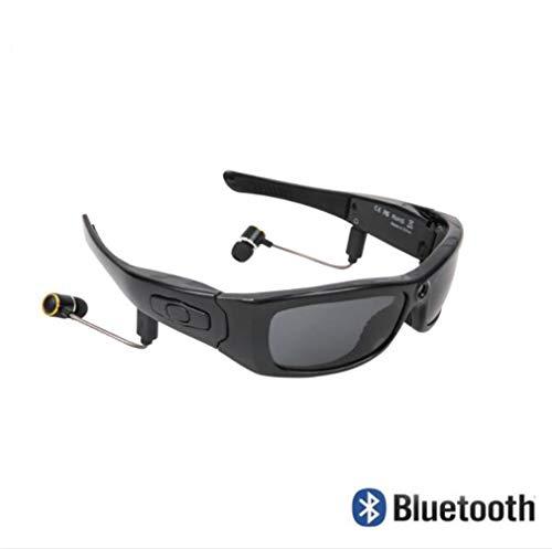 Huashao Weitwinkel 120 Grad 1080p polarisierte Sonnenbrille der Kameragläser, mit Kamera Stereo Bluetooth Kopfhörer, iPhone/Android-Handyreitmotorradfahrrad