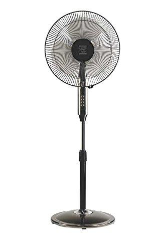V-Guard Chrom Max Dx 55-Watt Pedestal Fan with Timer (Black Chrome)