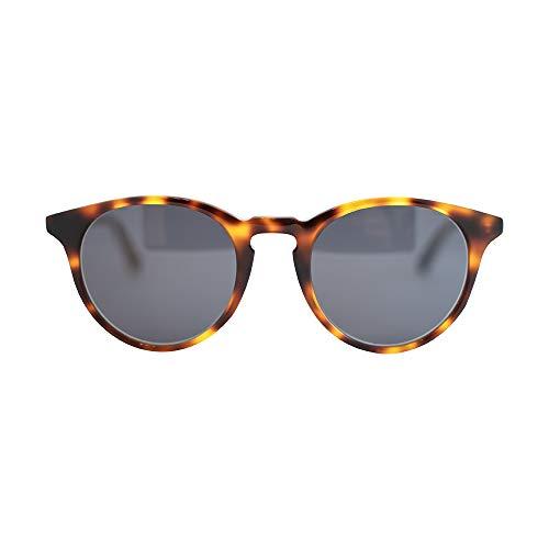 MessyWeekend New Depp - Klassisch Runde Dänische Designer Sonnenbrillen mit UV400 Schutz Tortoise