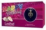 Wunsch Perle in Muschel Schale & Silber farbene Halskette Happy Birthday Schutzengel