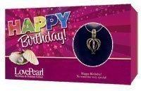 Wunsch Perle in Muschel Schale & Silber farbene Halskette Happy Birthday Schutzengel -