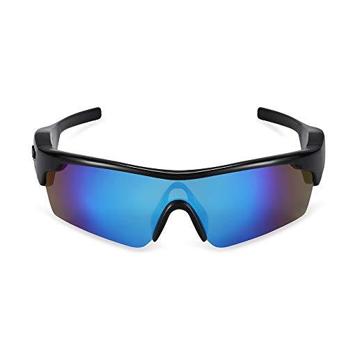 WMWHALE wasserdichte Action Brille Sport Stereo Bluetooth 4.1 Kopfhörer Polarisierte Audio Sonnenbrille Kopfhörer Reiten Radsport Brille,Blue