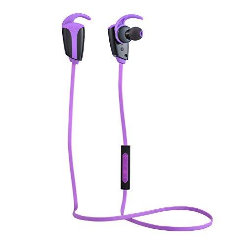 WM Wireless viola cuffie auricolari anti-sudore Sport Running heads-free Cuffie Bluetooth con micro per H903(aptX, Bluetooth 4.0, CVC Cancellazione del Rumore 6.0, 8Ore di tempo di riproduzione)
