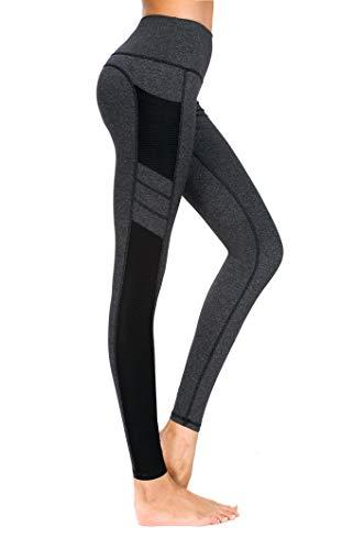 New Mincc Leggings Donna Pantaloni da Corsa Fitness Sportivi Yoga  Allenamento Dimagranti Tasca Tasche (Nero 5c46ae1bb59