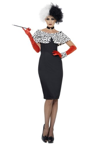 LADIES EVIL MADAME COSTUME - - 101 Dalmation Kostüm