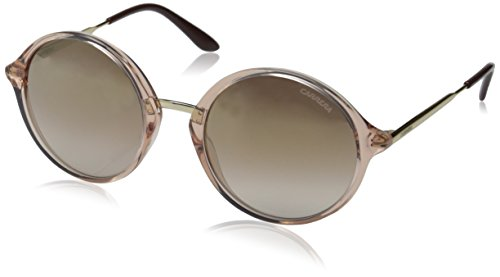 Carrera CA5031S Round Sunglasses, Pink Gold/Brown Mirror Gold, 52 mm image