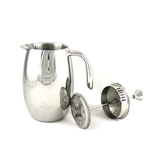 JXLBB Méthode d'argent Pot sous pression en acier inoxydable Cafetière Usage domestique Machine à thé Filtre à café Coupe Pot à laver les mains Pot 350 ml 304 en acier inoxydable Café Thé Isolation à