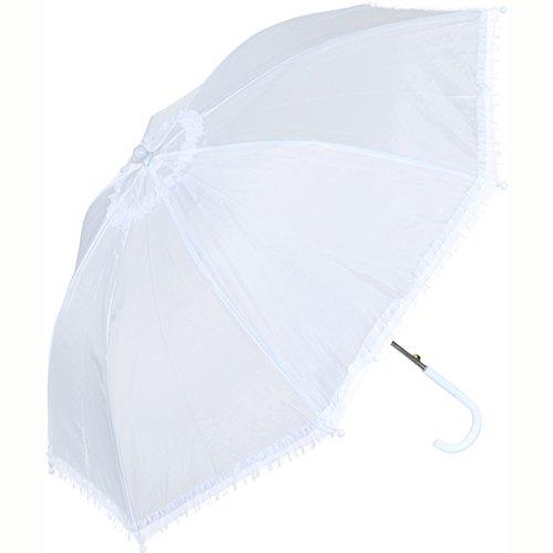 Rüschenschirm, weiß Durchmesser ca. 70 cm