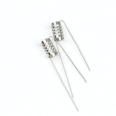 DIY-24H - 10x Notch Coils 0.4 Ohm Wire Fertigwicklung Edelstahl 316L Selbstwickler RDA RBA RTA von DIY-24H