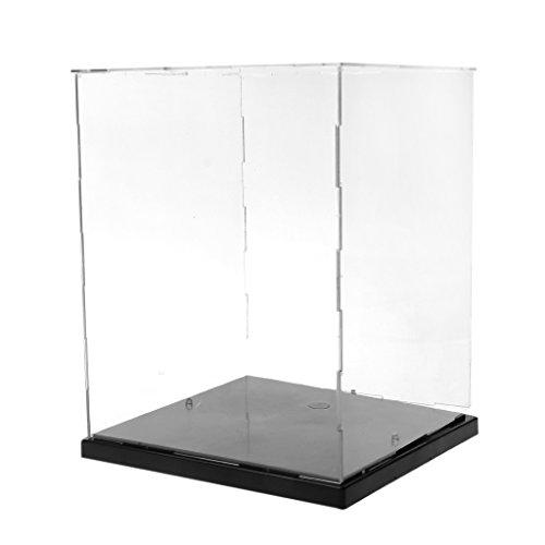 JAGENIE klar Acryl Display Box Staubdicht Schutz Modell Show Schutzhülle mit LED Lights -