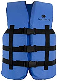 Harmony Gear Youth PFD | All Water Sports Life Jacket | Blue| USCG Approved - UL Type 3 | Boating Life Vest |