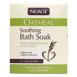 Nuage Oatmeal Soothing Bath Soak for Baby, Itchy, Dry or Sensitive Skin Relief - 8 Sachets