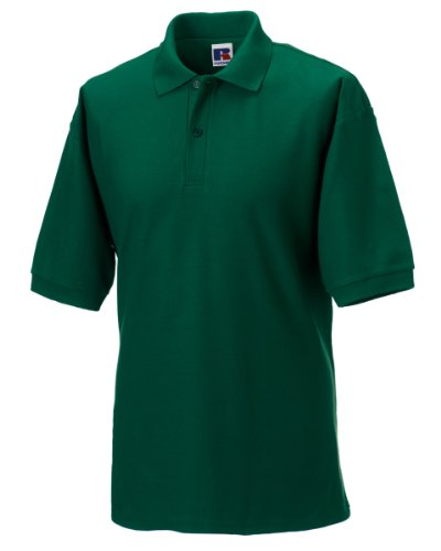 Russell Men's Polo Classic Polycotton Flaschengrün