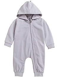 Jurebecia Niña Mameluco 3pcs Bebé Pantalones de Peto recién Nacido Monos Traje de algodón Floral, 3-18M