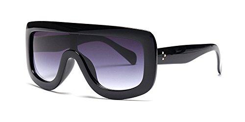 Kindoyo occhiali da sole rettangolari da donna, occhiali da sole oversize, montatura in plastica, protezione uv400, occhiali da sole non polarizzati