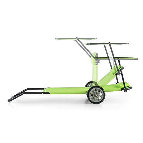 Blumfeldt maritimo • sdraio pieghevole • lettino da spiaggia richiudibile • con parasole e ruote per trasporto • struttura in alluminio • verniciatura a polvere • 66 x 20 x 155 cm • color verde