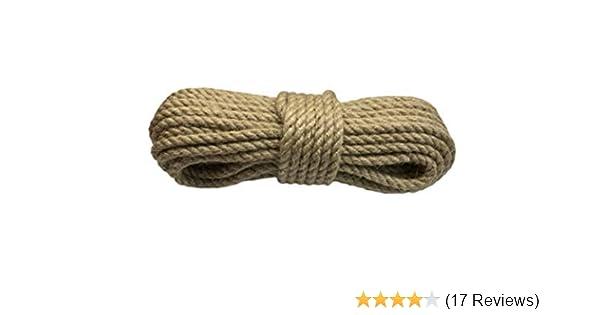 Juteseil 10-30 Meter Seil Tauwerk Hanfseil Tauseil Ø12mm und 16mm Leine PROFI