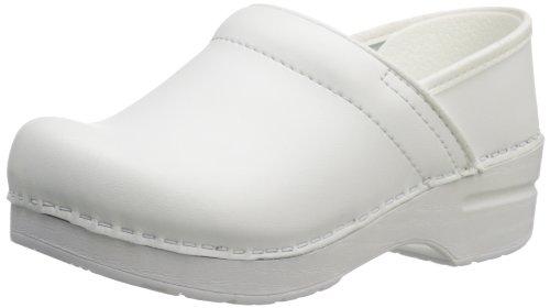 Dansko Professional Clog Lackleder Pantoletten Schuhe White