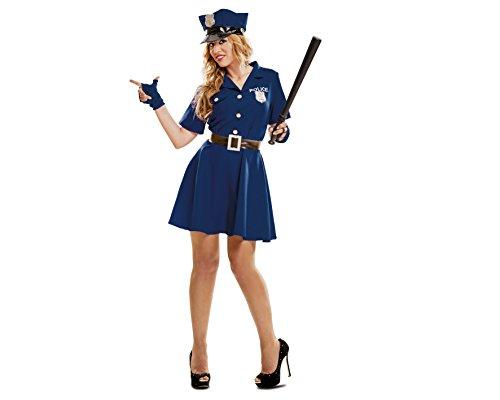 Imagen de my other me  disfraz de policía mujer, talla m l viving costumes mom00990