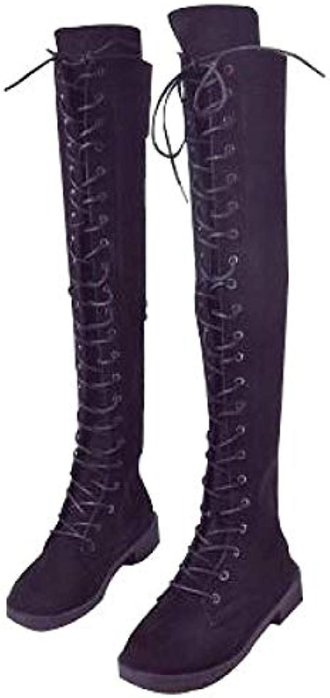 Oudan Stivali da Donna in Pelle Scamosciata Appuntita in Pelle da Donna (Coloreee   Nero, Dimensione   40EU)   Funzione speciale    Scolaro/Ragazze Scarpa