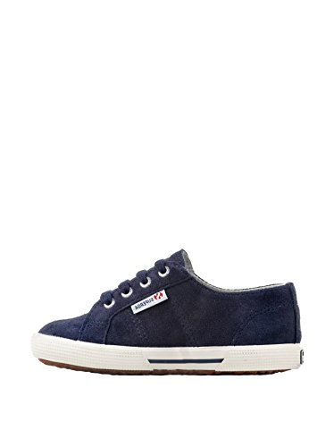 Superga 2950 Suej Lacets, Unisex - Kinder Sneaker Blue