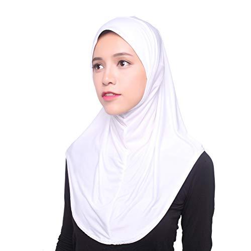 Yalatan - Hijab Kopftuch für muslimische Frauen I Islamische Kopfbedeckung Islam Solide Weiche Maxi Schal