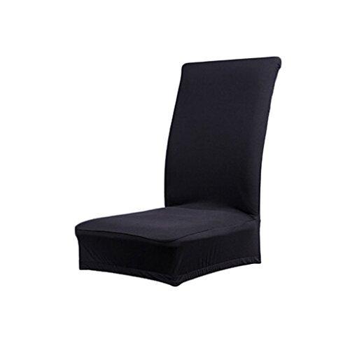 Preisvergleich Produktbild DABBIE Farbe weicher Polyester Spandex Esstisch Hocker Stuhl Bezug Stillkissen schwarz