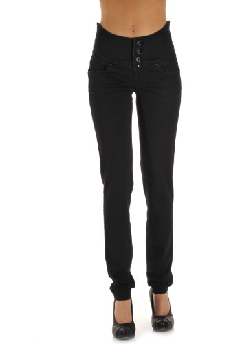 Salsa - Jeans slim, donna Nero (Schwarz (A)) 38/40 IT (25W/32L)