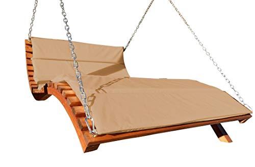 Design accrochant soleil Double transat Hollywood à double pont en bois de mélèze modèle: 'ARUBA LOUNGER-brun' (sans le support) de l'AS-S