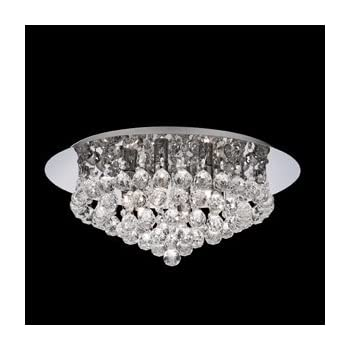 Searchlight hanna led semi flush ceiling light crystal chrome ip44 searchlight hanna 6 round semi flush round chandelier light 3406 6cc chrome mozeypictures Choice Image