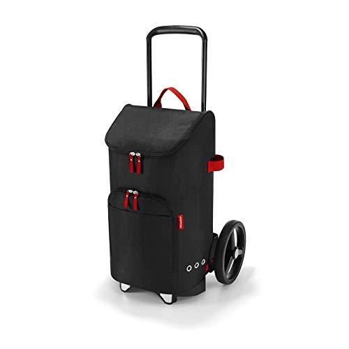 reisenthel citycruiser Rack + citycruiser Bag Set - moderner, robuster Einkaufstrolley aus Aluminium, leichtlaufende Rollen - große Einkaufstasche, 34x60x24 cm, 45 l, Black (7003)