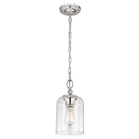 FE/HOUNSLOW/P PN Hounslow 1 Light Polished Nickel Mini Pendant