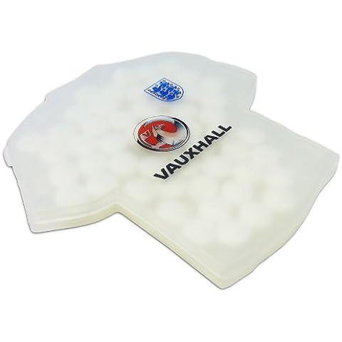 Camiseta de fútbol de Inglaterra de caramelos Dispensador Vauxhall FA oficial de marca. vx130