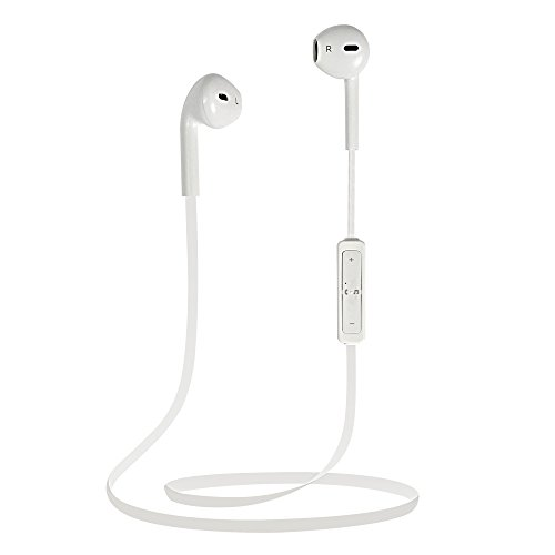 MENGS® Mini Sport Funk Bluetooth V4.1 Stereo In-Ear Kopfhörer für iPhone / Samsung / LG / HTC etc die meisten Mobiltelefone-Weiß (Lg-bluetooth-kopfhörer-clips)