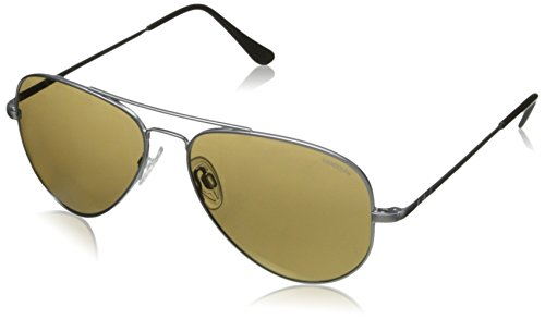 Randolph Engineering Concorde-Aviator-Sonnenbrille im Matt-Chrom-blauer Himmel-Flash CR74468-PC 57 57 Blue Sky Flash