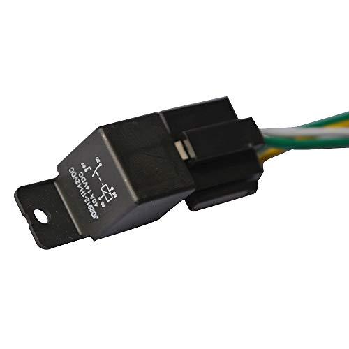 Ehdis® Car Truck Relay Socket kit harnais 4 Pin 4 pré-câblé 12V 40 Amp style Bosch SPST, Détecteurs Automobiles & démarreurs Set, Pack 1