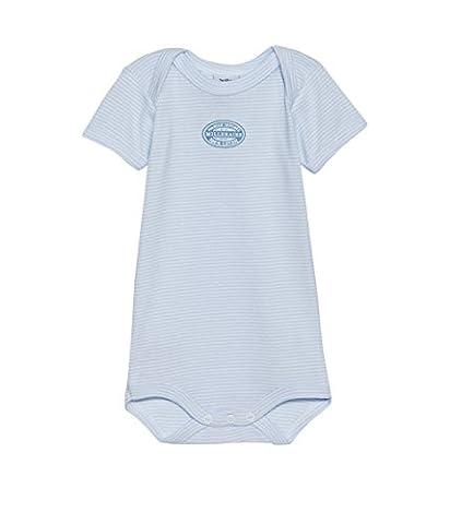 Petit Bateau Baby - Jungen Body MC CR MILLER, Gestreift, Gr. 104 (Herstellergröße: 4ans/104cm), Blau (FRAICHEUR/ECUME 67)
