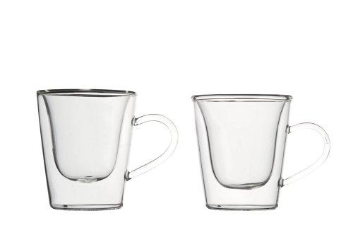 Luigi Bormioli 1441 doppelwandiges Borosilikatglas Espresso 120 ml, 2-er Set