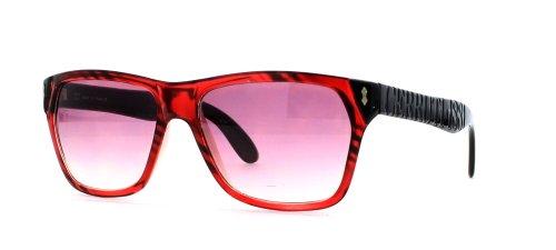 Cerruti Herren Sonnenbrille Schwarz Schwarz Rot