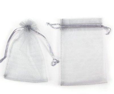 Stybelle Stybelle Bijoux Accessoires Sac cadeau avec cordon Perle en organza Sac à fil Taille 10 * 15 cm 10 * 15CM gris